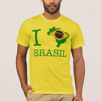 私はブラジルを、私愛しますブラジルを愛します Tシャツ