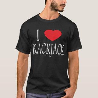 私はブラックジャックの暗闇のTシャツを愛します Tシャツ