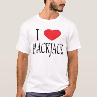 私はブラックジャックのTシャツを愛します Tシャツ