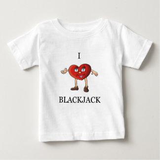 私はブラックジャックを愛します ベビーTシャツ