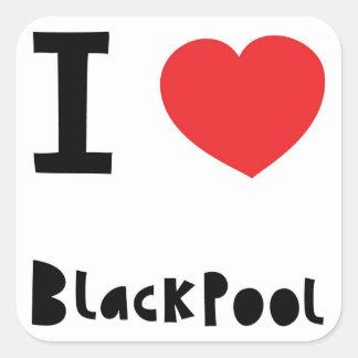 私はブラックプールを愛します スクエアシール