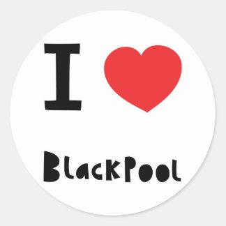 私はブラックプールを愛します ラウンドシール