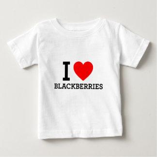 私はブラックベリーを愛します ベビーTシャツ