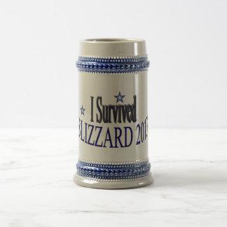 私はブリザードを2013年のステイン生き延びました ビールジョッキ