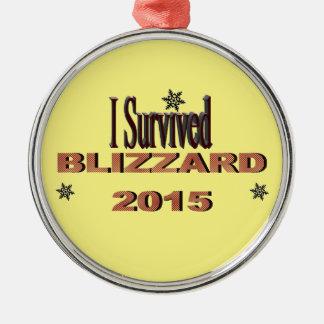 私はブリザード2015のオーナメントを生き延びました メタルオーナメント