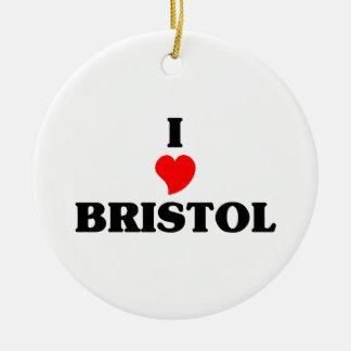 私はブリストルCnを愛します セラミックオーナメント
