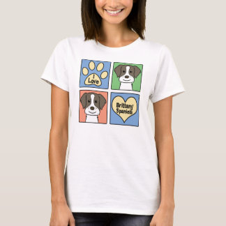 私はブリッタニースパニエル犬を愛します Tシャツ