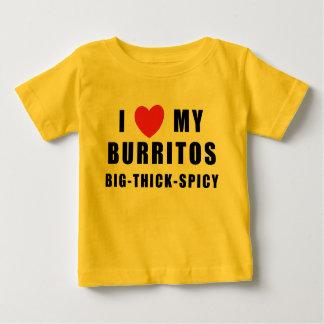 私はブリトーを愛します ベビーTシャツ