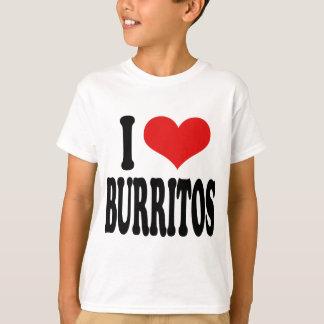 私はブリトーを愛します Tシャツ
