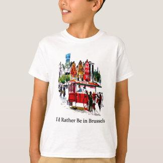 私はブリュッセルにむしろいます Tシャツ