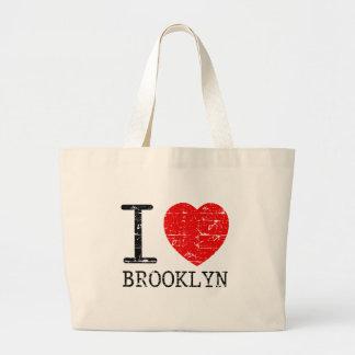 私はブルックリンを愛します ラージトートバッグ