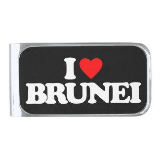 私はブルネイを愛します シルバー マネークリップ