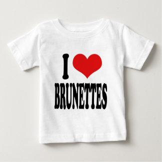 私はブルネットを愛します ベビーTシャツ