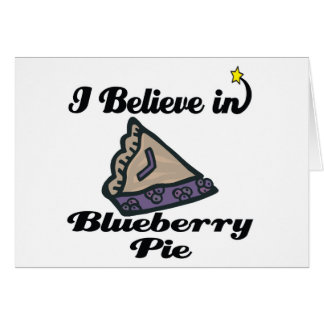 私はブルーベリー・パイで信じます カード