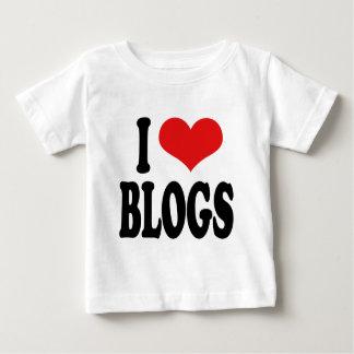 私はブログを愛します ベビーTシャツ