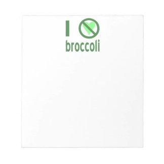 私はブロッコリーを憎みます ノートパッド