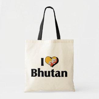 私はブータンの旗を愛します トートバッグ