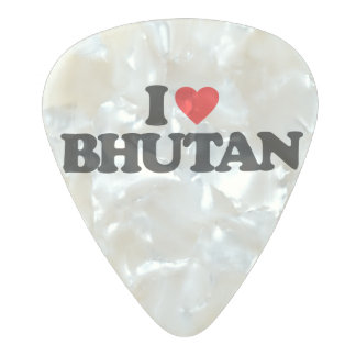 私はブータンを愛します パールセルロイド ギターピック