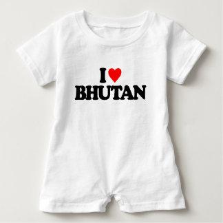 私はブータンを愛します ベビーロンパース