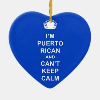 私はプエルトリコであり、穏やかにとどまることができません セラミックオーナメント