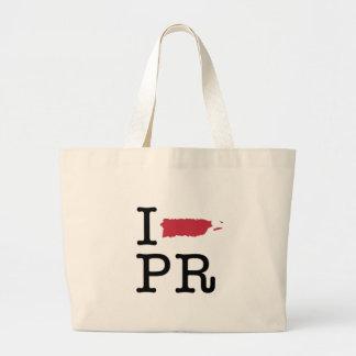 私はプエルトリコを愛します ラージトートバッグ