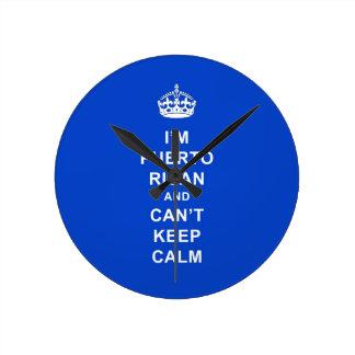 私はプエルトリコ、平静を保つことができません ラウンド壁時計