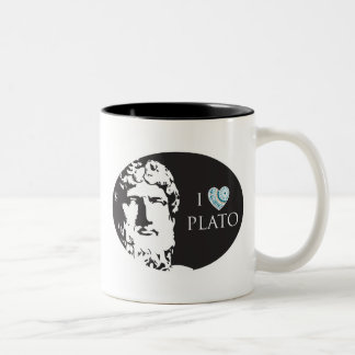 私はプラトンのマグを愛します ツートーンマグカップ