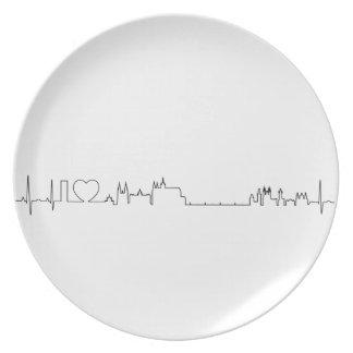 私はプラハ(ecgのスタイル)の記念品を愛します 皿