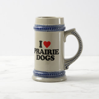 私はプレーリードッグを愛します ビールジョッキ