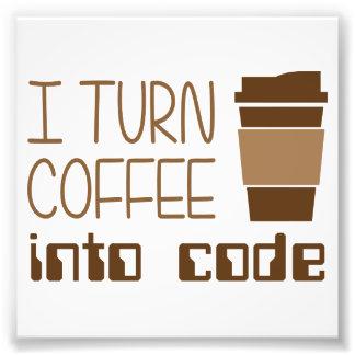 私はプログラミングコードにコーヒーを回します フォトプリント