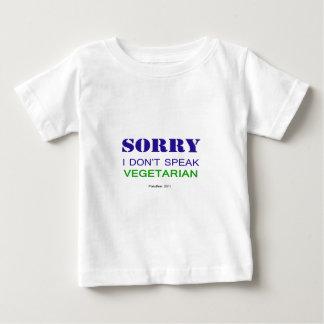 私はベジタリアンv2を話しません ベビーTシャツ