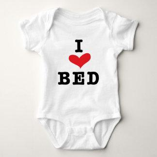 私はベッドを愛します ベビーボディスーツ