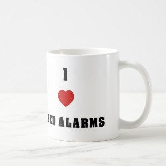 私はベッド警報を愛します コーヒーマグカップ