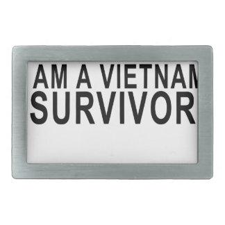 私はベトナムSURVIVOR.pngです 長方形ベルトバックル