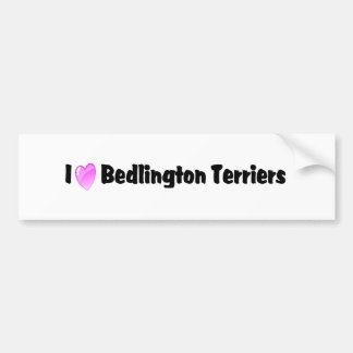 私はベドリントン・テリアを愛します バンパーステッカー