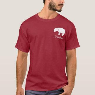 私はベビーのカバを愛します Tシャツ