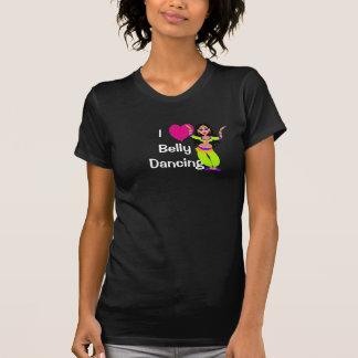 私はベリーダンス-ハート、漫画のダンサー--を愛します Tシャツ