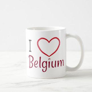 私はベルギーを愛します コーヒーマグカップ