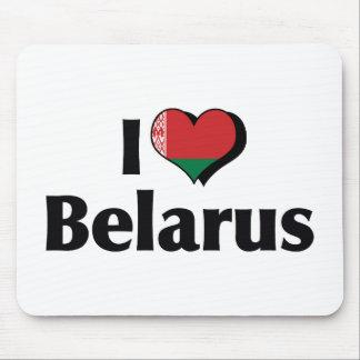 私はベルラーシの旗を愛します マウスパッド