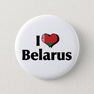 私はベルラーシの旗を愛します 5.7CM 丸型バッジ