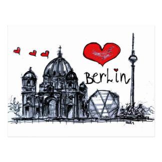 私はベルリンを愛します ポストカード