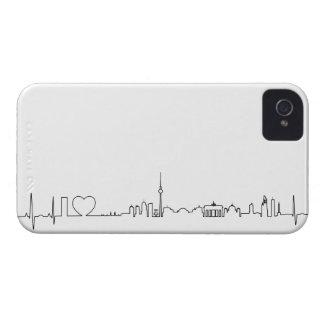 私はベルリン(ecgのスタイル)の記念品を愛します Case-Mate iPhone 4 ケース