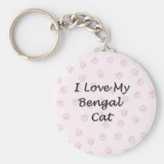 私はベンガル私の猫を愛します キーホルダー