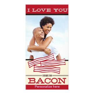 私はベーコンのバレンタインの記念日よりもっと愛します カード