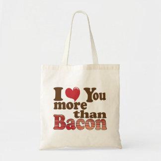 私はベーコンよりもっと愛します トートバッグ