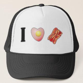 私はベーコンを愛します! キャップ