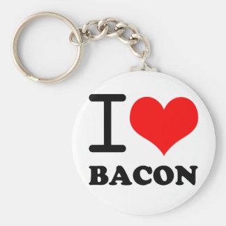 私はベーコンを愛します キーホルダー