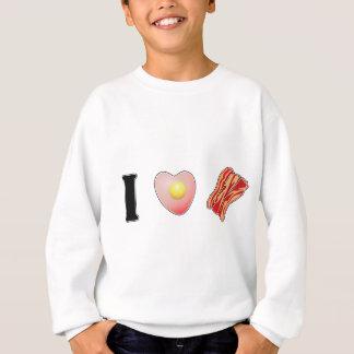 私はベーコンを愛します! スウェットシャツ