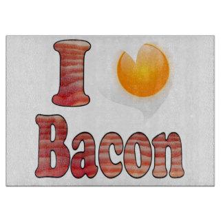私はベーコン及び卵のまな板を愛します カッティングボード