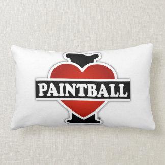私はペイントボールを愛します ランバークッション